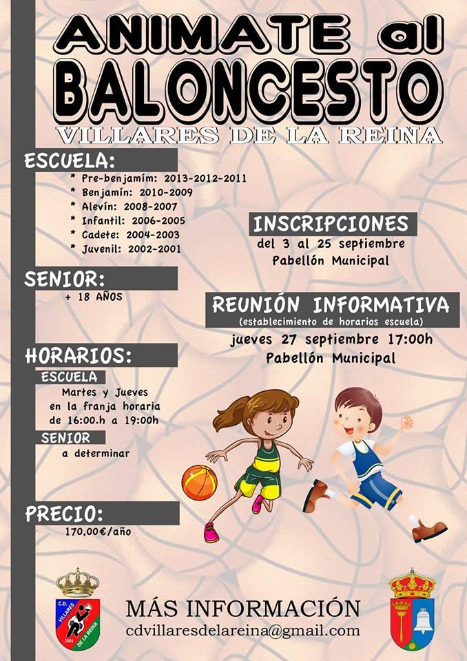 INSCRIPCIONES BALONCESTO TEMPORADA 2018-19