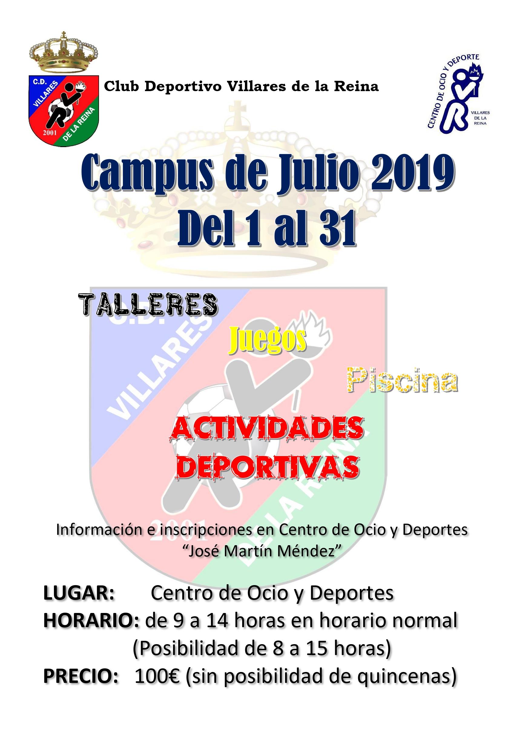 ESCUELAS DEPORTIVAS DE VERANO. CAMPAMENTO DE JULIO 2019